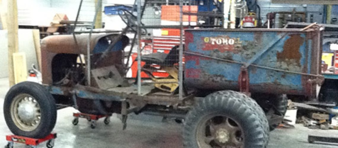 Blue-General-Tractor-Before GolfTales RJSmiley