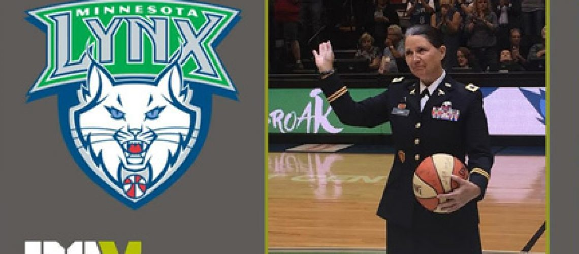 Laura-Ludwig-being-recognized-at-Minnesota-Lynx-game