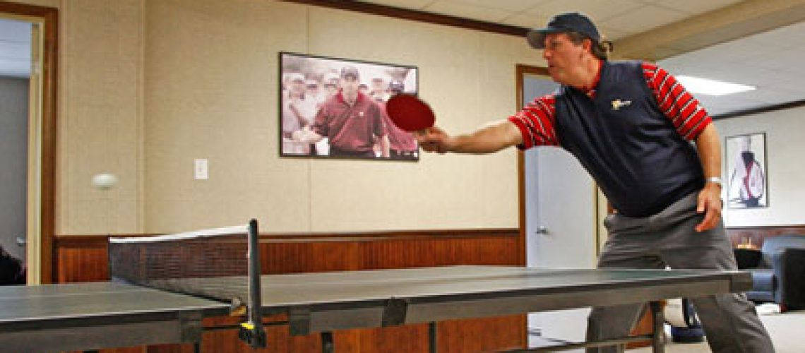 Phil at ping pong table