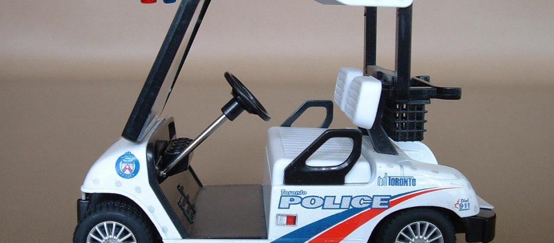 Police golf cart GolfTales RJSmiley