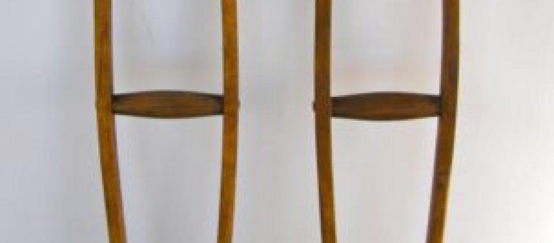 Wood crutches GolfTales RJSmiley